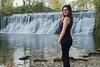 Ich vor einem Wasserfall / Me in front of a waterfall (Miss Nastja) Tags: wasserfall waterfall girl woman frau selbstauslöser selftimer photo foto photography fotografie water wasser