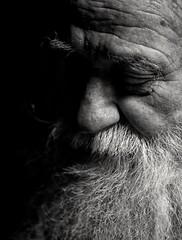 (Esat Sanlav) Tags: father black white blackwhite blackandwhite samyang 85mm f14 samyang85mmf14 portrait portraiture olympus olympusep5 penep5 olympuspenep5 ep5 pen m43 bokeh shadow light think outside face family human oldman people man