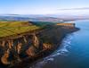 66559 on Hunt Cliff (robmcrorie) Tags: 66559 hunt cliff north yorkshire sea boulby potash mine south tees dock train rail railway aerial