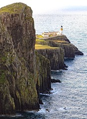 Neist Point on the Isle of Skye (Dave Russell (1 million views thanks)) Tags: neist point lighthouse light house isle island skye west western scotland inner hebrides building cliff cliffs water sea ocean marine maritime outdoor view scene scenery landscape seascape coast coastal travel tourism history rock bay