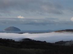 White Valley (Céanndhubahn) Tags: river water foggylandscape sheep vista farm mullofkintyre sandaisland ailsacraig hills scotland whitevalley firthofclyde fog girvanvalley foggyvalley
