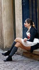 Halloween (jeanmarc.deconinck) Tags: halloween portrait tristitude maquillage fille smile sourire tabac cigarette rue street solitude seule triste pantin poupée alone makeup sad poor uncool