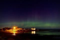 Aurora (17916) [Explore] (jonathanclark) Tags: autumn fall aurora northernlights groomsport countydown northernireland light lights plasma sea coast night dark sky belfastlough