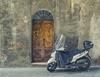 Numero Ventiquattro (Paul B0udreau) Tags: d5100 italian italy nikkor1855mm nikon nikond5100 paulboudreauphotography vivaitalia building siena motorbike door street photoshop