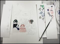 Work-In-Progress   Las Meninas   Part I (steveartist) Tags: watercolor workinprogress smallworks brush paper 100ragpaper archespaper stevefrenkel iphonese snapseed 2017 parody lasmeninas