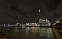 The Shard Wide Angle (Dave Sexton) Tags: london england united kingdom uk river thames night shard bridge tower lights reflections long exposure pentax k1 samyang 14mm f28 dxo on1 affinityphoto