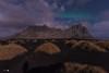 Selfie at night (Caramad) Tags: iceland nocturna estrellas landscape nubes lunallena stars sombra selfie longexposure dunas largaexposición aurora sea