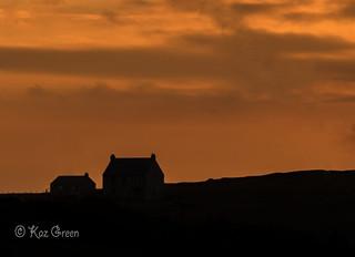 Sunset over Ligger House