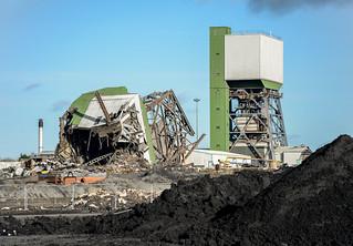 Kellingley Colliery, No.2 Tower Demolition.