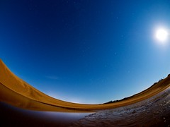 Moonlight (somazeon) Tags: tottori sanddunes star landscape sand moon nightshot night water sky samyang fisheye 鳥取砂丘 月