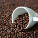 Coffe cup on coffee beans