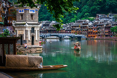 Fenghuang, China (pt. 2) (marinachi) Tags: fenghuang china city ancientcity boat river cof021 cof021nicky cof021dmnq cof021cher cof021ally