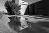 if only I could get into that corner of your head (fallsroad) Tags: tulsaoklahoma thepearl blackandwhite bw monochrome fragments urban city industrial door water reflection