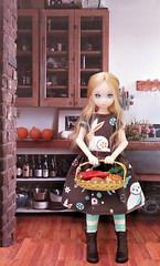 Evie (MurderWithMirrors) Tags: ruruko doll petworks dreaming rement miniature vegetable carrots potatoes sweetpotatoes onions food basket mwm