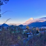 Autumn morning view over Kufstein with Pendling mountain in Tyrol, Austria thumbnail