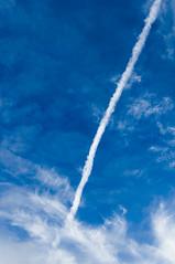 November 19th 2017 - Project 365 (Richard Amor Allan) Tags: sky blue vapour trail vapourtrail clouds cloud project365