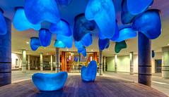 Blueteeth (Karsten Gieselmann) Tags: 714mmf28 architektur blau em5markii eingang europa exposurefusion mzuiko malmo microfourthirds olympus reise skulptur stadt sweden architecture blue city entrance kgiesel m43 mft sculpture travel malmö skånelän schweden
