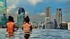 Overlooking Singapore Skyline (gerard eder) Tags: world travel reise viajes asia southeastasia singapore marinabaysands hotel casino pool skyline wasser water city ciudades cityscape cityview städte stadtlandschaft panorama outdoor architecture architektur arquitectura
