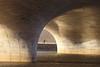 Going for Gold (*Chris van Dolleweerd*) Tags: gold light sun running water bridge person sport chrisvandolleweerd urban architecture reflection