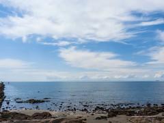 Cirrus and cumulus mediocris over Moreton Bay from Moora Park Shorncliffe P1040720p (john.robert_mcpherson) Tags: bramble bay cirrus clouds