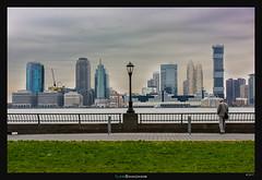 Jersey Skyline (Ilan Shacham) Tags: cityscape city skyline manhattan jersey broadwalk lamp streetlamp view scenic beauty fineart fineartphotography nyc newyork usa