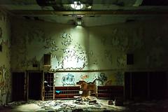 Dog (jessemgoldman) Tags: detroit school abandoned forgotten urbex city urban elementary institution education decay disintegrate