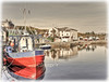 Bunbeg, Co. Donegal. (willieguildea) Tags: bunbeg donegal ireland eire ulster boat fishingboat trawler water waterscaape reflections landscape houses buildings sky harbour port quay nikon