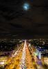 Moon over Champs Elyseees (CdL Creative) Tags: 70d arcdetriomphe canon cdlcreative champselysees eos france illedefrance paris geo:lat=488737 geo:lon=22949 geotagged îledefrance fr