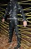Locked & laced (leatherman2011) Tags: catsuit bondage leather locked strait jacket straight ropes restrained bound