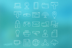 Apps Icon Set (mkrukowski) Tags: icon web internet business set vector symbol media technology school phone money mobile interface graphic shopping website button design bank collection computer pictogram social arrow ui concept flat app isolated