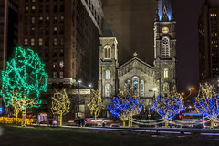 Old Stone Church Cleveland Ohio (msl8129) Tags: epz1650mm sony public a6300 old square cleveland ohio stone church night christmass hdr lights