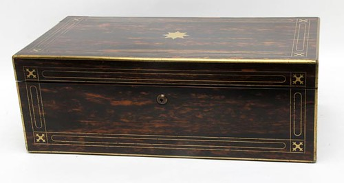 19th c. Coromandel Writing Lap Desk of Calamander Wood ($532.00)