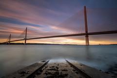 Into the Dawn (Fading Dusk Photography) Tags: edinburgh forth forthroadbridge firthofforth seascape longexposure northsea northqueensferry southqueensferry uk scotland kyoshimasamune ultrawideangle wideangle sunrise zomeind1000 zomei cokinfilters cokinnd8 nd1000 queensferrycrossing