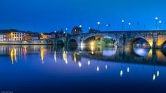 Namur Blue Hour - 4256 (YᗩSᗰIᘉᗴ HᗴᘉS +11 000 000 thx❀) Tags: bluehour blue night namur namurbynight water landscape waterscape 7dwf bridge be eu belgium belgique hensyasmine yasminehens meuse