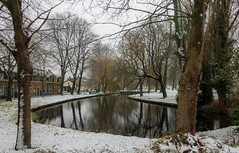 The winter pond (Marco van Beek) Tags: winter pond snow water house trees cold holland harderwijk landscape nature europe beautiful world canon eos 1100d efs1855mm f3556 iii