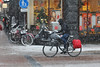 Leidsestraat - Amsterdam (Netherlands) (Meteorry) Tags: europe nederland netherlands holland paysbas noordholland amsterdam amsterdampeople candid center centre centrum leidsestraat prinsengracht bicyclette bicycle vélo bike cyclist snow neige winter hiver city urban dutch white blanc blizzard etos december 2017 meteorry