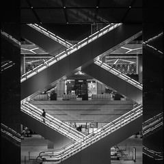 xy (marco ferrarin) Tags: kyobashi edogrand tokyo japan escalator stairs 京橋 京橋エドグラン 東京 night urban cirty light xy