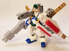There's no such thing as overkill (The Hydromancer) Tags: gundam x mobile suit frame zero chub chubdam micro mech space anime lego toy tabletop mfz rapid attack