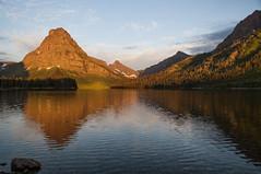 Two Medicine Lake and Sinopah Mountain, Glacier NP (explored) (birgitmischewski) Tags: twomedicinelake glaciernp earlymorning reflection mountsinopah sinopahmountain