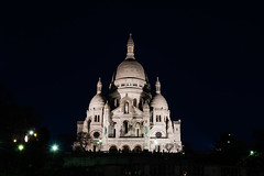 Sacred Heart Church from Montmartre at night (arnaud_martinez) Tags: church city cityscape eiffel elysees france illuminated light montmartre night obelisque outdoors paris sky street arc arch arched architecture bigwheel bridge building bulbs cars champs christmas coeur de evening flow herartsacre iron lady landmark lighthouse monument nobody old palace palais petit sacred show skyline small tower traffic travel triomphe urban