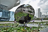 Sky Mirror (chooyutshing) Tags: skymirror reflectivestainlesssteel sculpture anishkapoor lilypond artsciencemuseum marinabaysands marinabay singapore