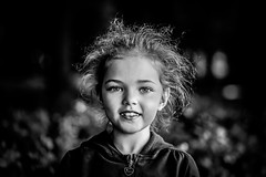Tomboy (Unicorn.mod) Tags: 2017 bw monochrome outdoor portrait child girl tomboy canoneos6d canonef100mm28lisusm canon