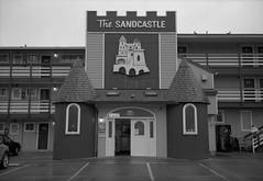 Lincoln City, Oregon (austin granger) Tags: lincolncity oregon sandcastle motel topography architecture coast parkinglot scale design beach film gw690