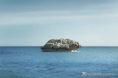 The stone, Oval (Michiyo Photo) Tags: cyprus stone rock sea ocean line coast beach seascape horizon 2016 2018 travel holiday friend trip blue peace quiet silence silent relax meditation nature natural shape imagination wave 5dmarkiii canon kurosawamichiyo cliff