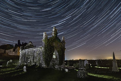 Carbury Castle, Star Trails (JPaulTierney) Tags: stars startrails night longexposure carbury castle cemetery kildare sony a6000 18105mm
