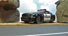 Speed Trap. (ManOfYorkshire) Tags: 118 scale car plastic auto model automobile ford shelby gt500 supersnake mustang poluice patrol 911 bluelight beacons yinyuarts toy toys speedtrap diorama