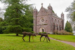 Killerton Chapel with festive wicker deer