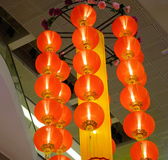 Red lanterns for decoration (phuong.sg@gmail.com) Tags: antique asia asian background celebrate celebration china chinese color colorful culture decor decoration decorative defocusing design evening festival fortune glow greeting holiday illuminated lamp lantern light luck lucky new oriental ornament paper pattern pray prayer red religion symbol town tradition traditional year