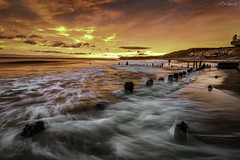 Breaking Dawn (Dave Cappleman) Tags: whitby whitbydistrict dawn sunrise colours sea sky clouds sand patterns water bay