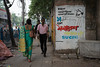 Scène de rue, Calcutta, Bengale occidental, Inde (Pascale Jaquet & Olivier Noaillon) Tags: graffiti politique scènederue lénine particommuniste calcutta bengaleoccidental inde ind
